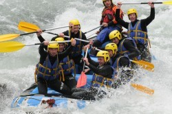 Challenge rafting sur la Dranse avec AN