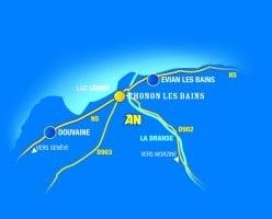 Plan accès AN Rafting Dranse