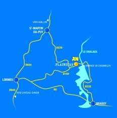 Plan accès AN Rafting Morvan