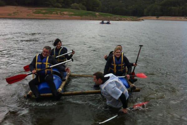 Challenge radeaux lac de Chaumecon
