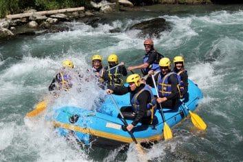 Rafting sur la Dranse en Haute-Savoie