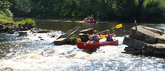 Canoe dans le Morvan